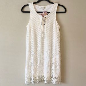 NWT Love Fire White Tunic Dress